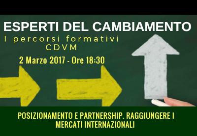 Foto evento: Posizionamento e Partnership. Raggiungere i Mercati Internazionali 9 marzo