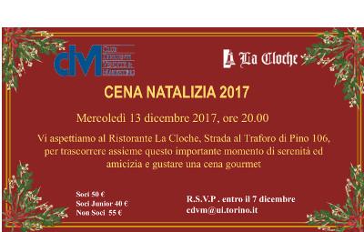Cena Natalizia CDVM  – 13 dicembre 2017