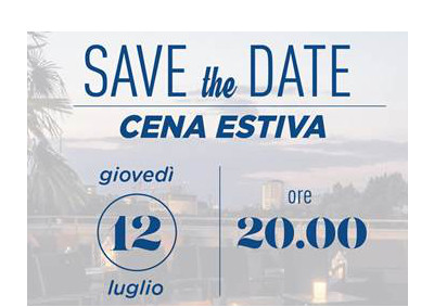 Save the date Cena d'Estate CDVM – 12 luglio 2018