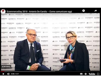 Intervista a De Carolis Antonio – Ecommerce Day – 19 ottobre 2018