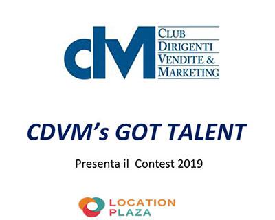 CDVM's GOT TALENT – Presenta il Contest 2019 – 7 maggio 2019