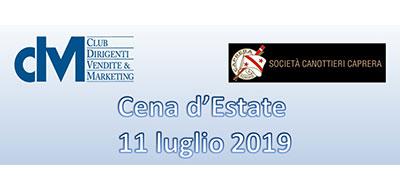 Cena d'Estate CDVM – 11 luglio 2019