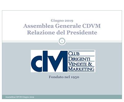 Relazione del Presidente Antonio De Carolis – Assemblea Generale CDVM
