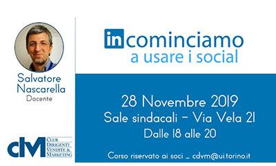 Corso gratuito CDVM riservato ai Soci su Linkedin – Docente: Nascarella