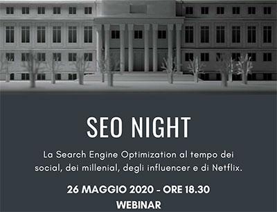 SEO Night – WEBINAR CDVM – 26 maggio 2020